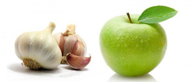 Чеснок и яблоко