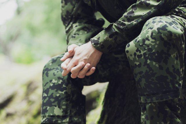 Парень в военной форме